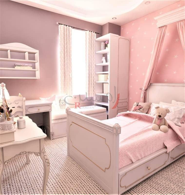 دکوراسیون اتاق خواب کودک صورتی