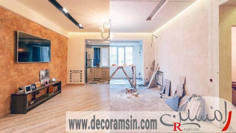 بازسازی منزل توسط یک شرکت معتبر