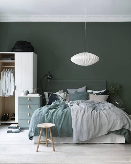 رنگ اتاق خواب سبز