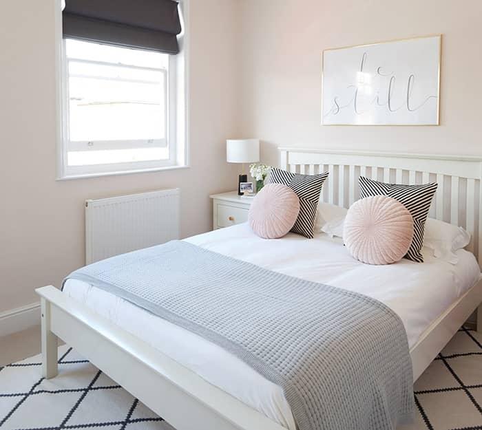 رنگ اتاق خواب صورتی روشن