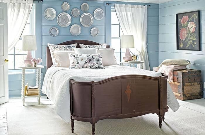 رنگ اتاق خواب آبی روشن