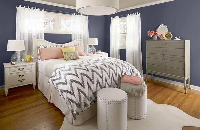 رنگ اتاق خواب بنفش