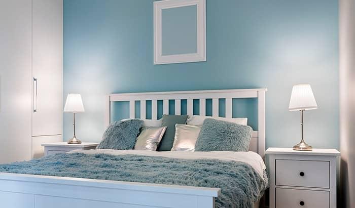 رنگ اتاق خواب آبی تیره