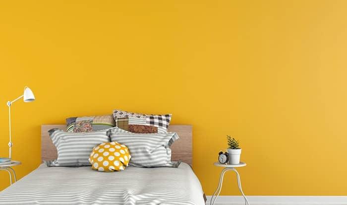 رنگ اتاق خواب زرد پررنگ