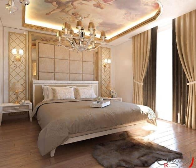 نور دکوراسیون اتاق خواب