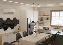 طراحی داخلی و اجرای آپارتمان دو خوابه ۱۱۰ متری