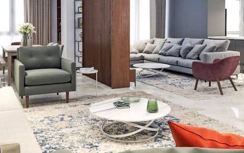 طراحی دکوراسیون داخلی آپارتمان سه خوابه ۱۹۰متری