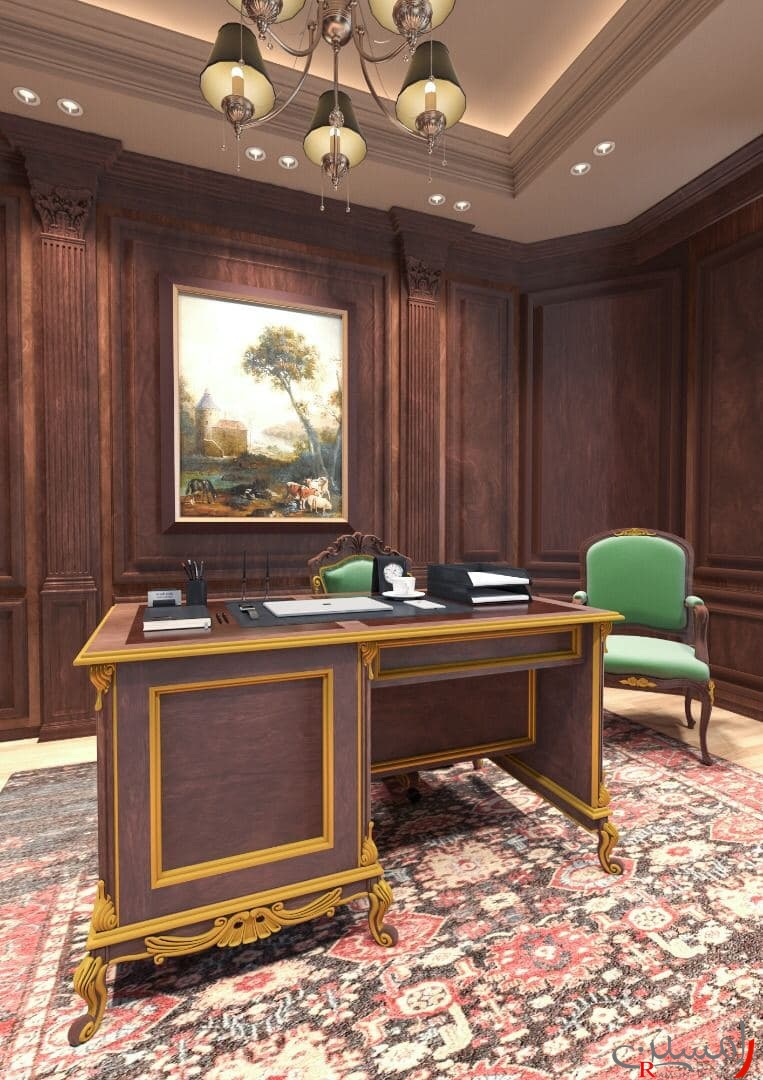 دکوراسیون داخلی اتاق کار کرج مهرشهر