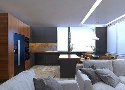 طراحی داخلی و دکوراسیون آپارتمان دو خوابه ۹۵ متری