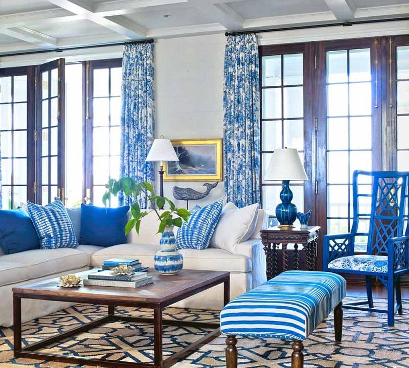 رنگ آبی دکوراسیون داخلی منزل