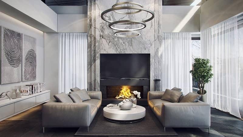 رنگ سفید و خاکستری در دکوراسیون خانه (1)
