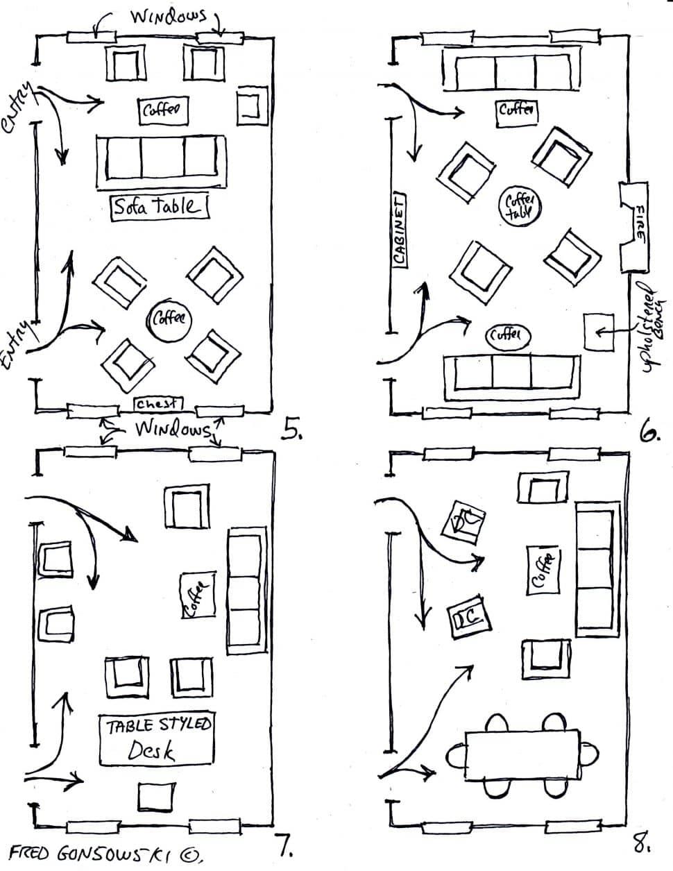 روش چیدمان وسایل دکوراسیون داخلی منزل