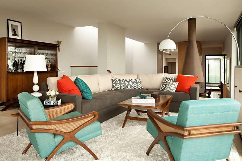 سبک دکوراسیون داخلی مدرن اواسط قرن بیستم Modern interior decoration style of the mid-twentieth century