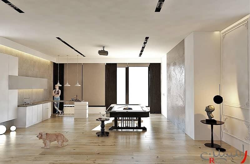 سبک مدرن در دکوراسیون داخلی منزل مسکونی