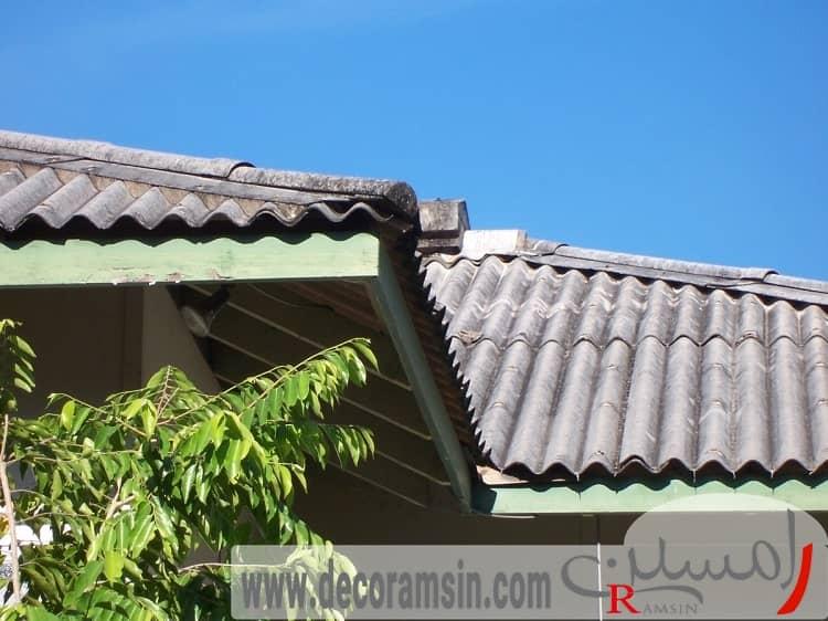 پوشش-سقف-ایرانیت-ساخت-ویلا
