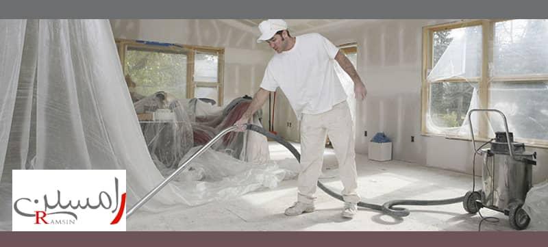 بازسازی منزل برای فروش یا اجاره نظافت