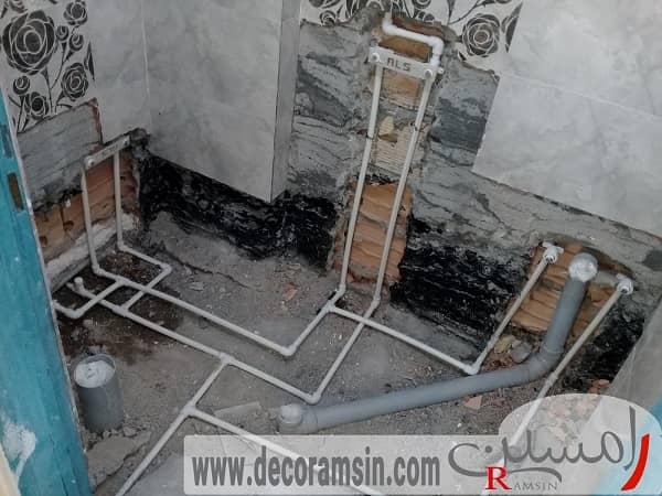 بازسازی لوله کشی ساختمان بازسازی منزل