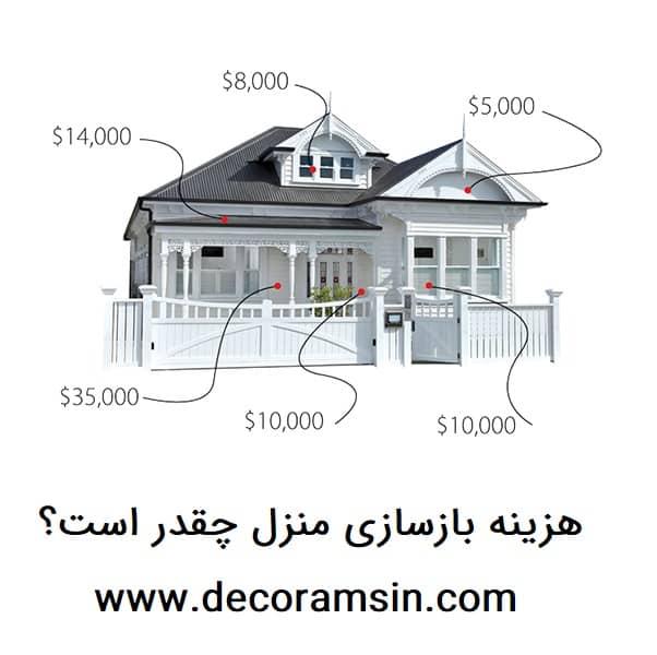 هزینه بازسازی منزل چقدر است؟