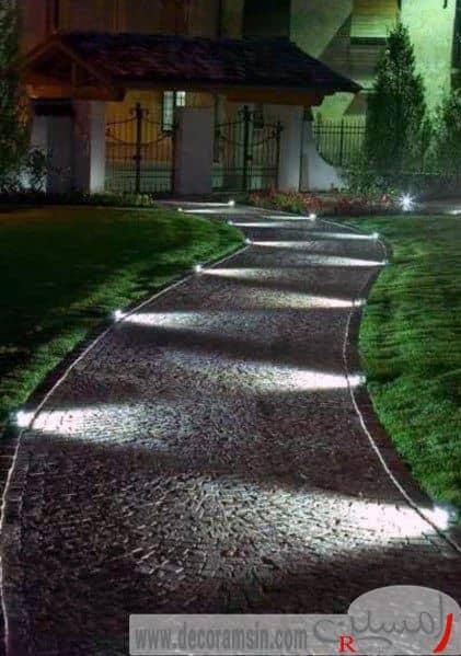 نورپردازی-مسیر-عبور-محوطه-سازی-ویلا