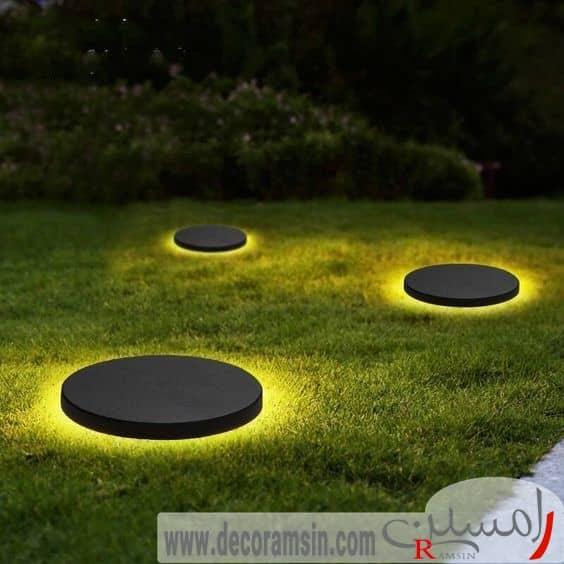 نورپردازی-فضای-سبز-ویلا-با-استفاده-از-نورهای-مسطح