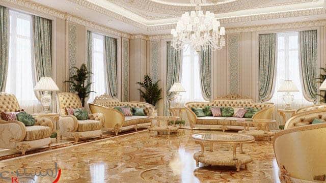 طراحی داخلی ویلا سبک کلاسیک در نوشهر