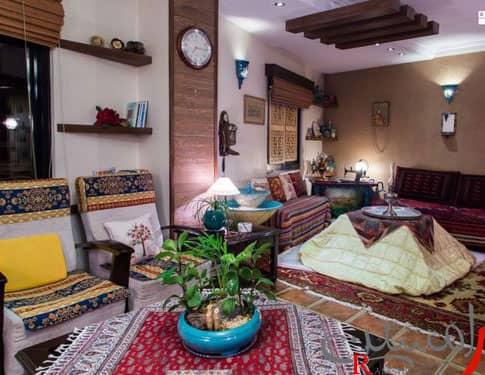 دکوراسیون منزل ایرانی جدید و شیک سنتی