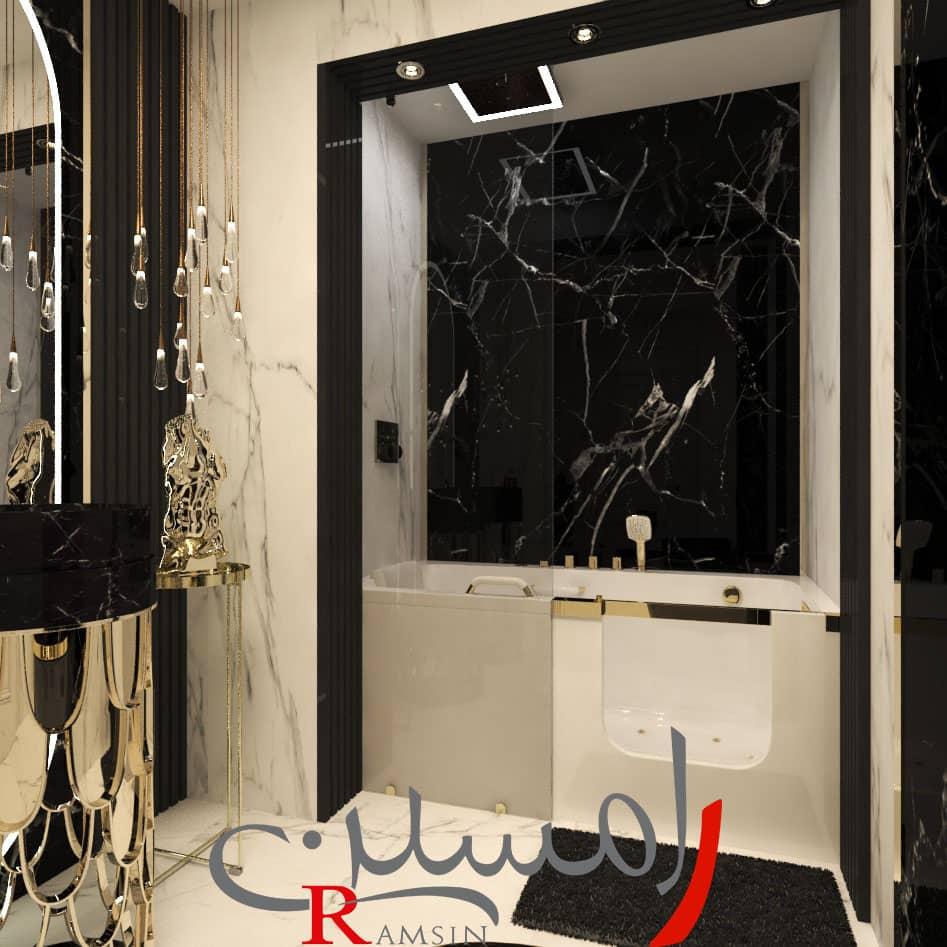 شرکت دکوراسیون داخلی در فرمانیه قسمت حمام